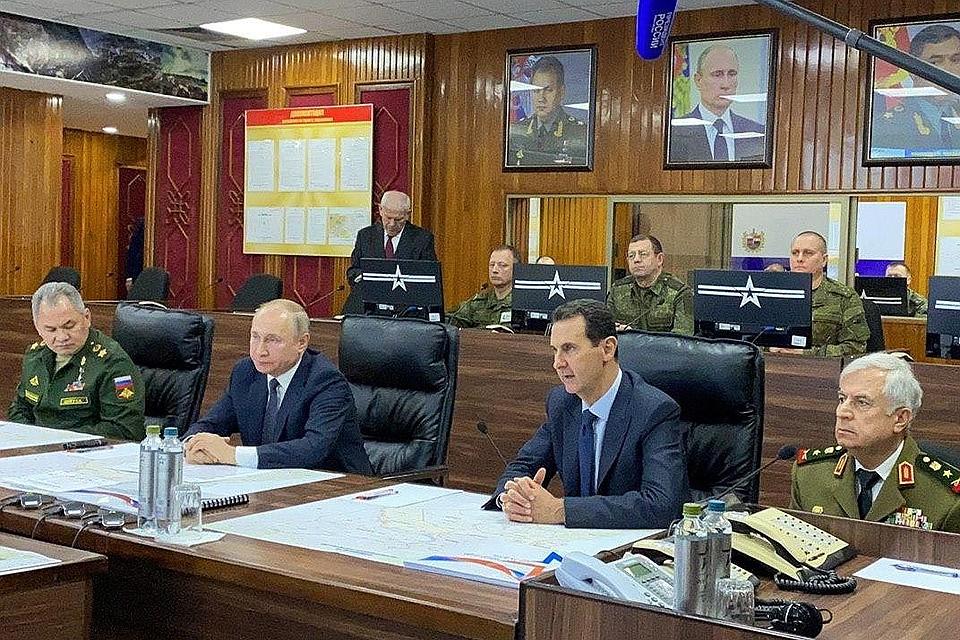 Путин начал политический год с визита в Дамаск